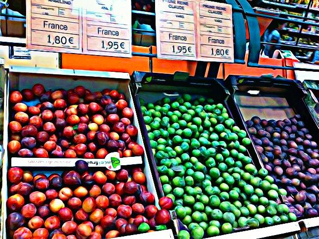 Colorful Plums